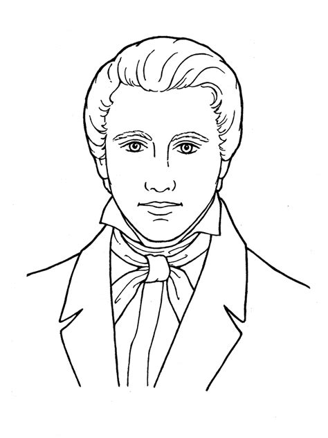 lds coloring pages prophet mormon coloring pages and print for free