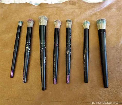 pattern for paint brush holder stencil diy a customized brush holder paint pattern
