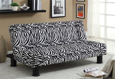 zebra print sofa zebra print fabric adjustable futon sofa