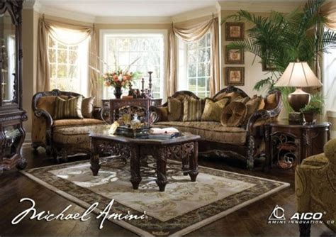 Aico Furniture Essex Manor Living Room Set 76815 S C Aico Furniture Living Room Set