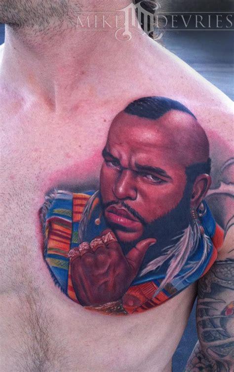 mr tattoo mike devries tattoos portrait mr t