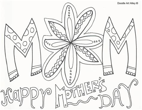 happy mothers day coloring page mothers day coloring pages doodle alley