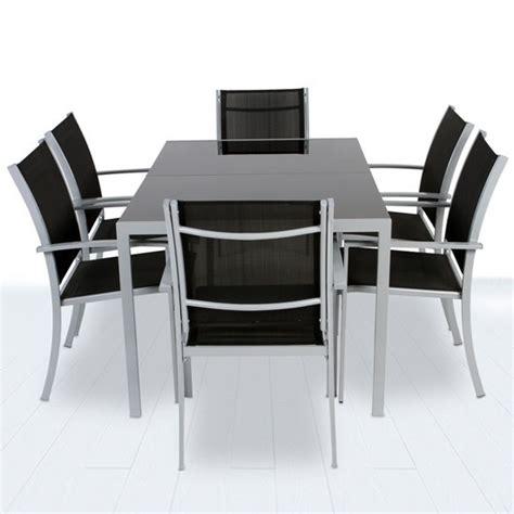 table et 6 chaises de jardin en aluminium pas cher 423
