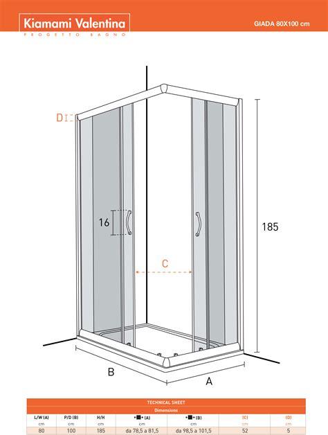 piatto doccia 80x100 prezzi box doccia in cristallo trasparente 80x100 prezzo basso