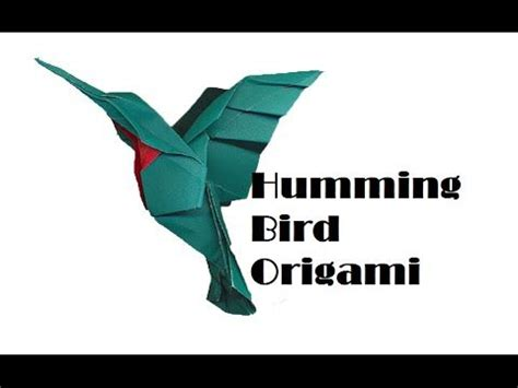 Origami Hummingbird Tutorial - how to make an origami humming bird by barr