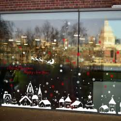 Decorative Window Decals For Home Saturday Monopoly Diy Home Decor New Snow Town Wall Stickers Window Glass Decorative