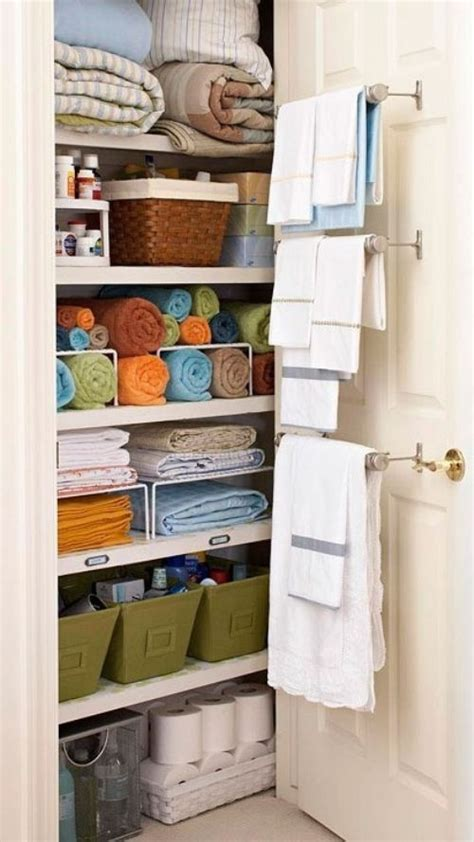bathroom closet organization ideas use organizer like totes baskets and boxes to make the most out of a small space lovebugs