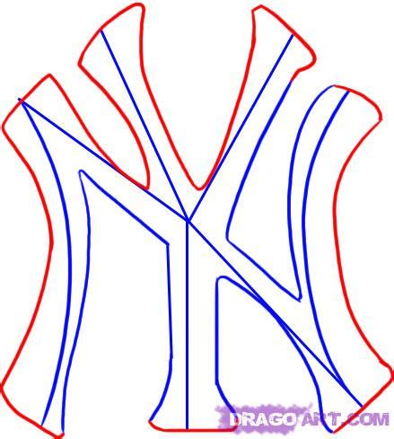 how to draw the new york yankees logo step by step