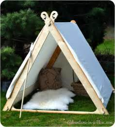 How To Build A Tent How To Make A Viking Backyard Play Tent