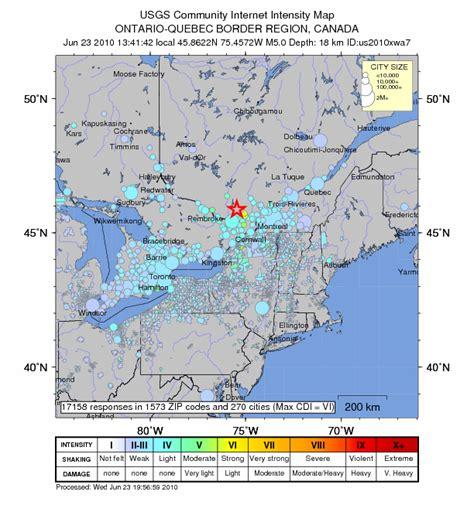 ontario geofish western quebec seismic zone part 2 m 5 0 earthquake jolts quebec felt in western new york