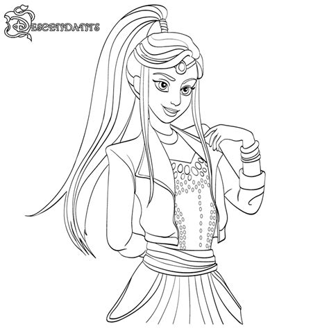 coloring pages the descendants descendants coloring pages best coloring pages for kids