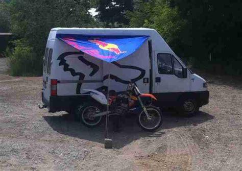 Mobile Motocross Motorrad by Fiat Ducato Wohnmobil Motocross Transporter Mx Wohnwagen
