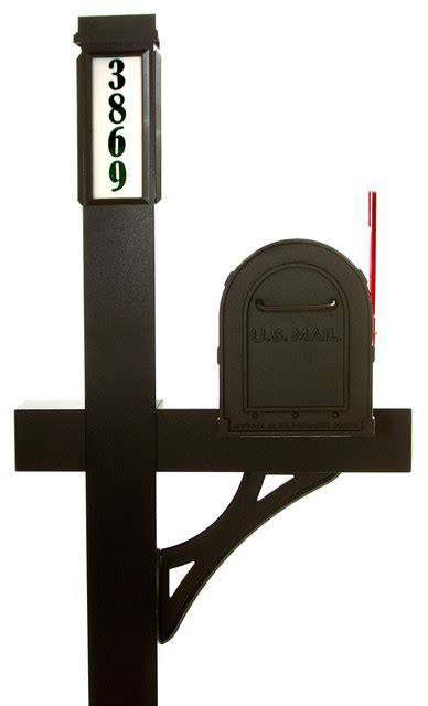 solar light mailbox package black traditional