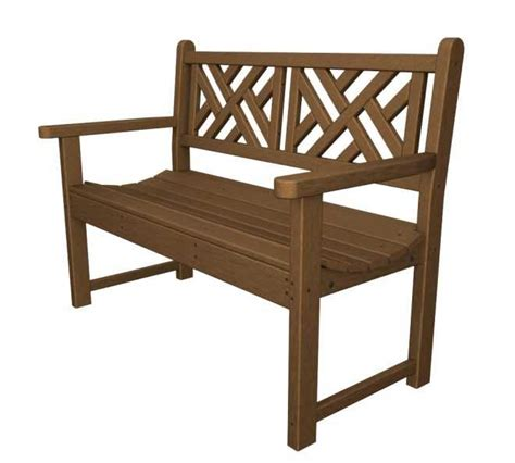 Chippendale Patio Furniture Chippendale 48in Garden Bench Recycled Outdoor Furniture