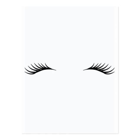 printable eyelash stencils eyelashes postcard zazzle