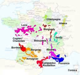 France Wine Regions Map wineries in france map