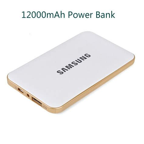 samsung 12000mah ultra slim capacity portable rechargeable usb power bank external battery