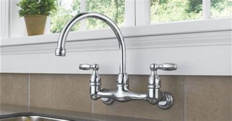 Peerless Wall Mount Kitchen Faucet Peerless P299305lf Two Traditional Lever Handle Wall Mount Kitchen Faucet Chrome Laundry