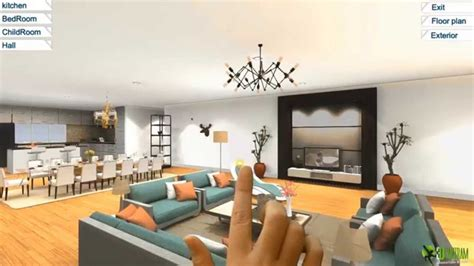Virtual Home Design Application | 360 virtual reality interior application experience for