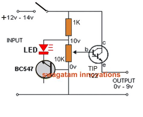 variable bench power supply circuit simplest variable bench power supply circuit electronic circuit projects
