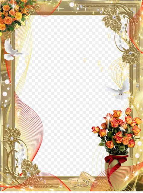 Picture Frames Wedding   frames png download   1191*1600