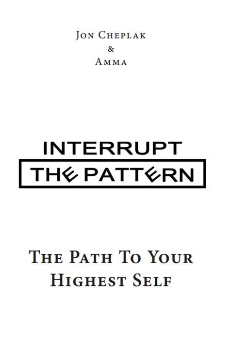 interrupt the pattern book the book interrupt the pattern interruption