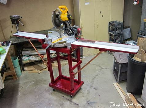 How To Build A Miter Saw Table by Dewalt Miter Saw Cart