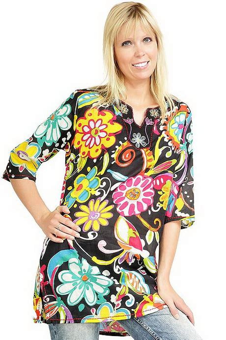 Flower Tunik flower power tunika