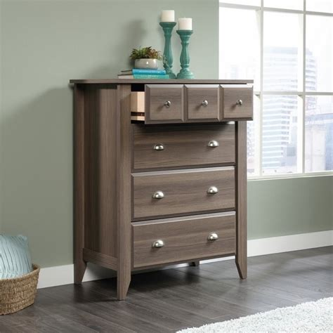 Sauder Shoal Creek 6 Drawer Dresser Oak by 4 Drawer Chest In Ash 419234