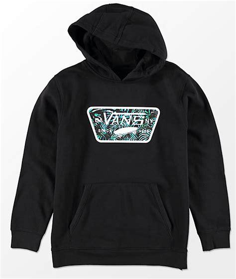 Sweater Vans Patch vans boys patch fill black hoodie zumiez