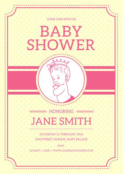 baby shower flyer km creative