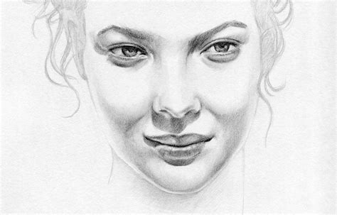 drawing faces another pretty drawing with graphite pencils of wei