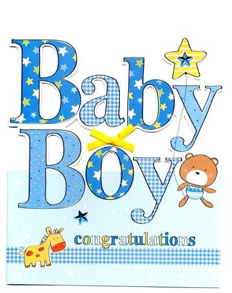 Free Printable Baby Boy Cards