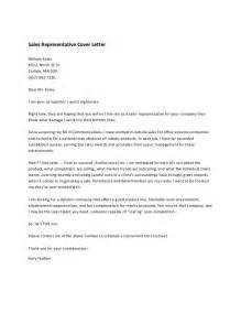 Sales Representative Cover Letter Sles by Sales Representative Cover Letter