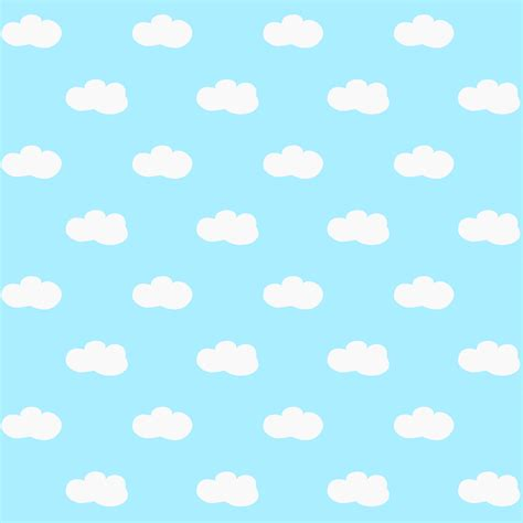 Paper Pattern - free printable fluffy clouds pattern paper free