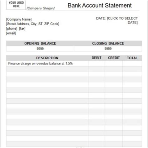 Editable Bank statement Template Archives   Word Templates