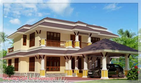 home design companies in india 5bhk luxury kerala villa design at 3700 sq ft