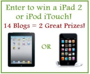 Ipod Touch Giveaway - last chance win an ipad 2 or ipod touch two great prizes two people will win