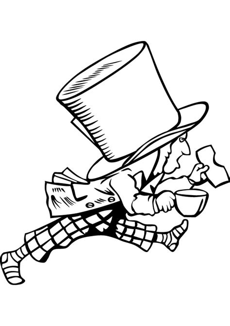 mad hatter anime coloring sheet coloring pages