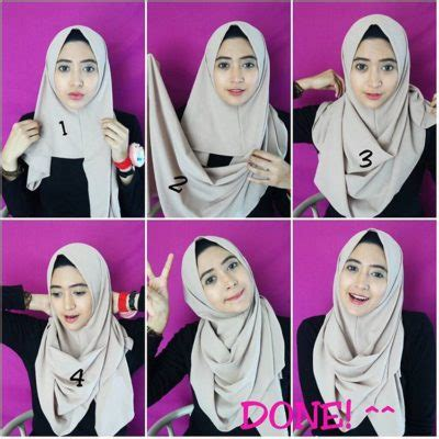 tutorial hijab segi empat simple wajah bulat 17 kreasi model hijab segi empat simple modern 2018 terbaik