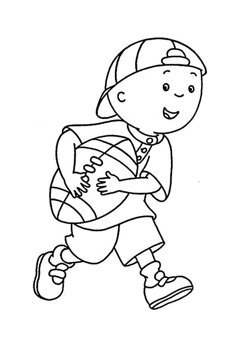 printable rugby images caillou plays coloring pages for kids printable free