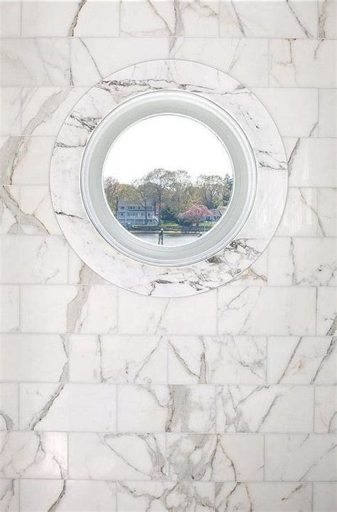 Porthole Windows Bathroom Decorating Marble Shower With Porthole Window Transitional Bathroom