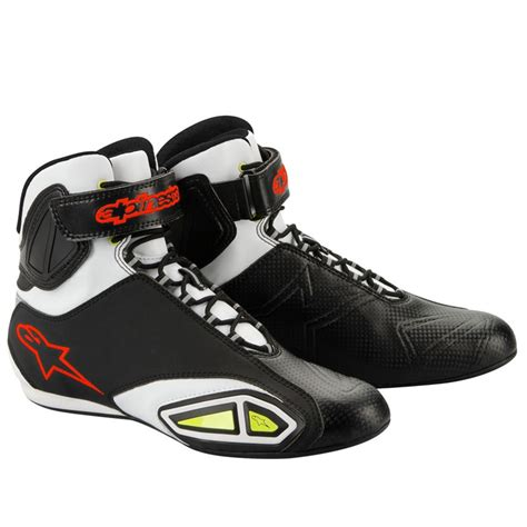 red motorcycle shoes alpinestars fastlane motorcycle shoe black white red