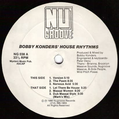 1990s house music forgotten treasure bobby konders quot house rhythms quot 1990 music is my sanctuary