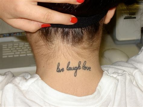 the word love tattoo designs 83 neck tattoos for