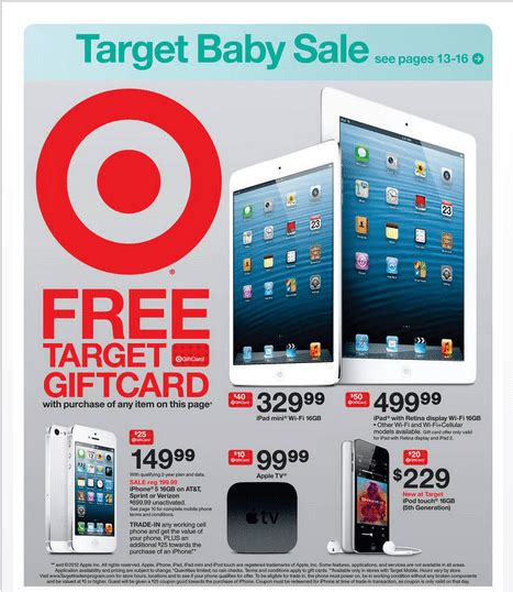 Target 5 Gift Card Promotion - target offers big ipad 4 and iphone 5 gift card deals