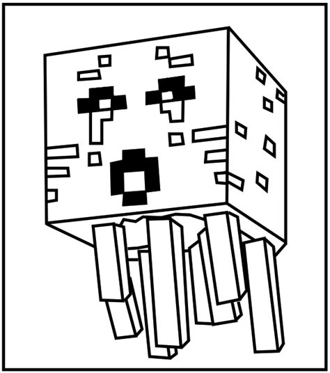 minecraft coloring pages foldable printable minecraft ghast coloring pages for the kids