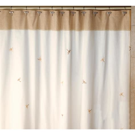 Nature Themed Shower Curtains Creative Bath Dragonfly 70 In X 72 In 100 Cotton Nature Themed Shower Curtain In And