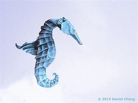 Seahorse Origami - winged seahorse by mitanei on deviantart