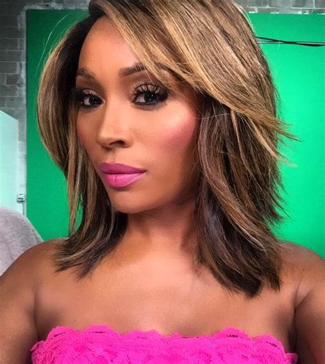 cynthia bailey bob hairstyle cynthia bailey dishes on real housewives of atlanta drama
